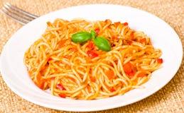 Spaghetti whit tomato sauce Royalty Free Stock Image