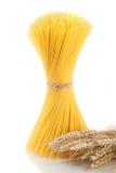 Spaghetti on a white background Royalty Free Stock Photo