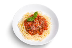 Spaghetti on  white background Stock Photo