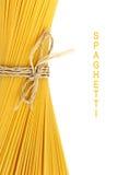 Spaghetti on white background Royalty Free Stock Image