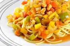 Spaghetti on white plate Royalty Free Stock Image
