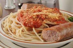 Spaghetti wihth sausage Stock Image