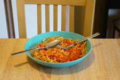 Spaghetti wit sauce Royalty Free Stock Photo
