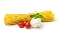 Free Spaghetti With Ingridients On White Stock Image - 23988521