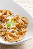 Spaghetti With Pesto Royalty Free Stock Images