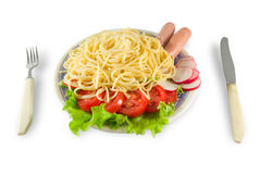 Free Spaghetti With Sausages Royalty Free Stock Images - 2365629