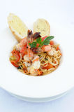 Spaghetti With Sea Food Royalty Free Stock Images