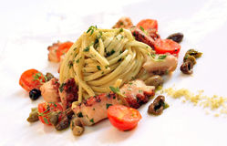 Spaghetti With Seafood Stock Photography