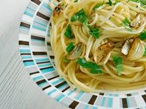 Spaghetti z czosnkiem i olejem Zdjęcie Royalty Free