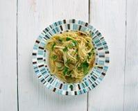 Spaghetti z czosnkiem i olejem Zdjęcia Stock