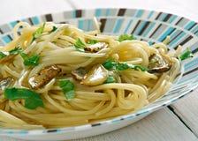 Spaghetti z czosnkiem i olejem Obraz Stock