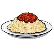 Spaghetti z kumberlandem Zdjęcia Stock