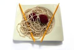 spaghetti z wełny zdjęcie royalty free