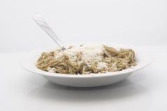 Spaghetti z pesto Zdjęcie Stock