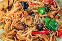 Spaghetti z pieczarką Zdjęcie Royalty Free