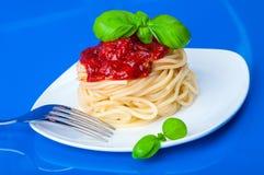 Spaghetti z pomidorowym kumberlandem Zdjęcie Royalty Free