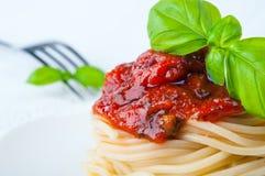 Spaghetti z pomidorowym kumberlandem Zdjęcia Stock