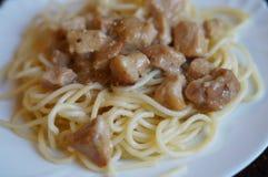 Spaghetti z wieprzowiny goulash Zdjęcie Stock