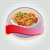 Spaghettiaufkleber Stockbilder