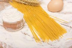 Spaghettideegwaren stock afbeeldingen