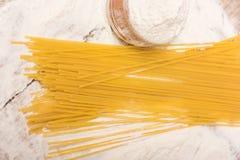 Spaghettideegwaren stock foto's