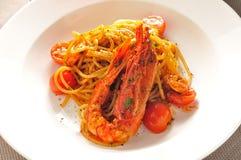Spaghettigarnalen Stock Afbeelding