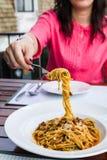 Spaghettinudeln Lizenzfreie Stockbilder