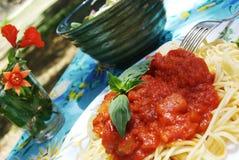 Spaghettis stockfotos