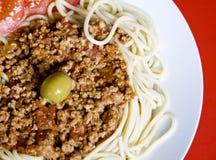 Spaghettis lizenzfreies stockbild
