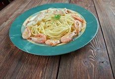Spaghettis Ai Frutti di mare Stockbilder