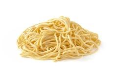 Spaghettis alla chitarra, frische italienische Teigwaren Lizenzfreies Stockfoto