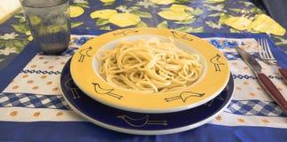 Spaghettis ausgezogen Stockbild