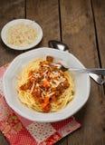 Spaghettis Bewohner von Bolognese Lizenzfreie Stockbilder