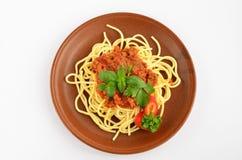 Spaghettis Bewohner von Bolognese 1 Lizenzfreies Stockbild