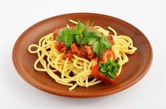 Spaghettis Bewohner von Bolognese 2 Lizenzfreie Stockfotografie