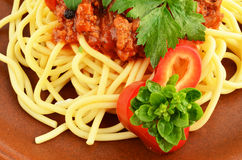 Spaghettis Bewohner von Bolognese 6 Stockbilder