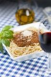 Spaghettis Bolognaise Stockfotografie