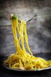 Spaghettis carbonara Stockbild