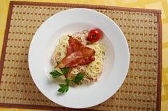 Spaghettis carbonara Lizenzfreie Stockfotografie