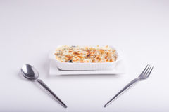 Spaghettis mit gebackenem Käse Lizenzfreies Stockfoto