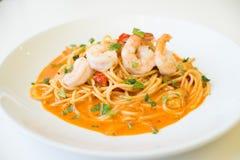 Spaghettis Tom yum Lizenzfreies Stockfoto