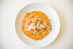 Spaghettis Tom yum Stockfotos