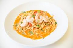 Spaghettis Tom yum Lizenzfreie Stockfotos