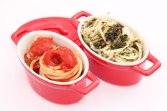 Spaghettis with tomato sauce Stock Image