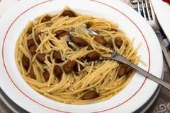 Spaghettis und Bohnen Lizenzfreie Stockfotografie