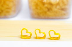 Spaghettis und Makkaroni stockbilder