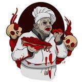 Spaghettis vom Zombieblut Stockfoto