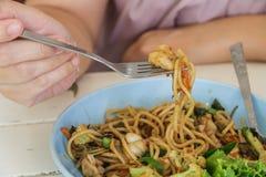 Spaghettis würzig Lizenzfreies Stockfoto