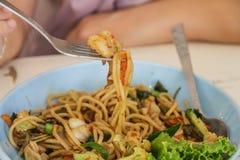 Spaghettis würzig Lizenzfreies Stockbild
