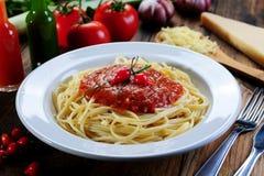 Spaghettiteigwaren stockfotos